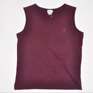 Tops - 90's Calvin Klein Knit Tank Top with Stripes